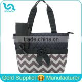 Personalized Monogram Bag Monogram Chevron Quilted Diaper Tote Bag With Changing Mat                                                                         Quality Choice