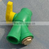 Plastic Ball Valve with Filter / Strainer (Brass core) manufacturer for underfloor heating system