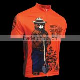 Smokey Bear jersey Bike Racing shirts Cycle Outdoor Wear Custom Racing Cycling Jersey                                                                         Quality Choice