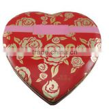 food grade heart shape Valentine's Day chocolate tin box gift for women