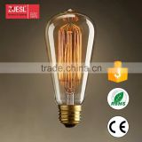 Hot Sale ST58 110-240V 40/60W Vintage Edison Bulb, clear steeple hairpin tungsten filament lamp