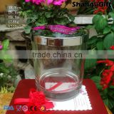 330ml Cylinder Glass Candle Houdler Can Coating Custom With Metal Lids