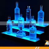 LED lighted liquor bottle display shelf clear acrylic display shelf