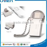 Mini Portable Metal Waterproof Micro USB 3.0 OTG Mobile Phone 32GB Silver USB Flash Memory
