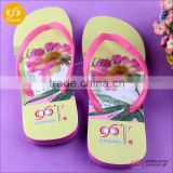 Colorful promotional OEM Logo fashion custom EVA slippers flip flops