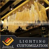 Golden stained murano glass ceiling lamps for hotel                                                                                                         Supplier's Choice