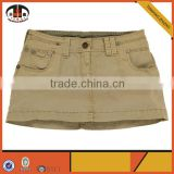 100% Cotton Cargo Lady Micro mini Skirt with OEM ODM Available