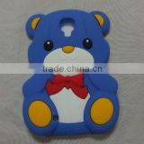 silicone cute cartoon animal bear phone case for samsung S4