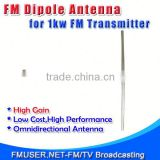 FMUSER fu-dv1 1 bay best outdoor fm dp antenna High Gain Outdoor Antenna for FM transmitter up to 1000w-RC1