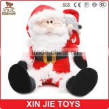 customize plush musical christmas gift toys soft musical santa claus doll good quality stuffed santa claus doll with music