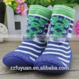 2016 new arrivals baby shoe socks with rubber sole, floor sock shoes