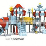 Amusement Park Playground Plastic Outdoor Slide Climbing Play Structure with Fruit Theme Components