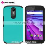 IVYMAX New Products For Sale Tuff Hybrid Phone Protective Cover for Mototola Moto G4 Plus Accesorios Para Celulares