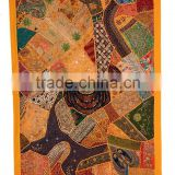 old patchwork mirror work wall hangings