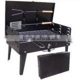 Box-type BBQ grill outdoor portable folding barbecue grill