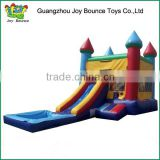 moonwalks with water slide inflatable castle trampoline ,manufacture in china castle for kid