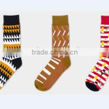High Quality OEM Services Men Custom Colorful Combed Cotton Dress Socks, Cotton Business Mid-Calf Socks, Happy Funny Men Socks