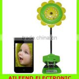 Sun Flower support iphone Android wireless video Baby Monitor Wifi IP Camera DVR