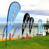 X foot 2.8m 3.5m 4.5m Outdoor Advertising knife shape teardrop flying banners with water bag