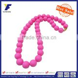 Colorfuls silicone necklace beads,baby chew necklace,amber teething necklaces wholesale