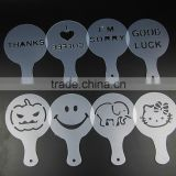 food grade plastic coffee stencil for Halloween                                                                         Quality Choice