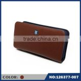Selection of high quality leather card fine men's double zipper hand wallet can hold mobile phone