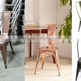 Electroplating metal dining set, table anad chairs in Gold, Rose gold,bronze, nickel color