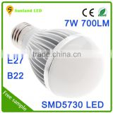 Made in China Christmas Lighting 7W Aluminum Material LED Bulb Light high bright flicker flame light bulb