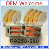 Factory Wholesale Equivalent Wago 222 Series Push in 2p 3p 5p Quick Wire Connector Electrical Terminal Block