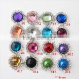 Wholesale Chic decorative Crystal rhinestones flower for girls headwear/bride hair clips/clothes