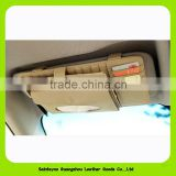 1506 Leather supplies multifunctional cd bag genuine leather cd storage bag car cd folder sun-shading board