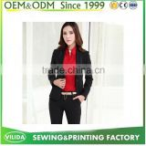 2016 Fashion Slim Button Collar Casual Business Women Blazer Suit by Factory