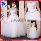 2015 the best popular big ball gown with loverly sweetheart neckline & beaded lightly top of bridesmaid dresses young