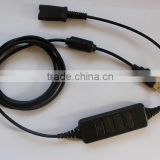 NEW! High quality PLT compatible usb adapter voip headset adapter usb voip adapter