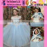 2015 factory direct hot holiday baby girl dress boutique shop top quality cheaper snow white Princess dress
