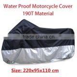 Black+silver Outdoor UV Protector Motorcycle body cover