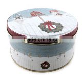 food grade round cookie tin wholesale