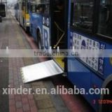 Electric steel Wheelchair Ramp for City public buses