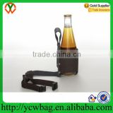 Wholesale popular genuine leather beer holster with belt loop