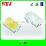 0.5w 50-55lm 5500-7000K pure white 5730 smd led specification