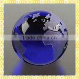 Elegant Blue Glass Ball Paperweight For Office Decoration
