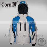 OEM Factory ski wear waterproof hooded cycling jacket boys winter coat