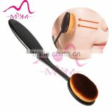 oval shape black tooth brush cosmetic makeup brushes
