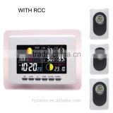 Digital wireless RCC weather station with 3 remote sensors/ Weather Station with Digital Clock radio controlled