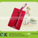 Quqlity Assurance! Custom eco-friendly hard plastic luggage tag with full color printing