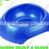 Small pearl-lustre egg-shaped Pet Bowl P657: