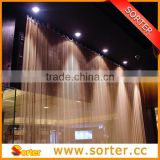 Hebei metal architectural cascade coil metal mesh curtains drapery