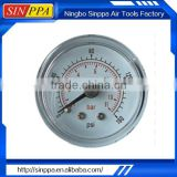 Steel Case Brass Internal 63mm Auto Tyre Pressure Gauge GV6302