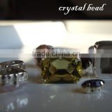 crystal bead with metal claw