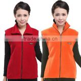China Manufacturer Factory Directly Cheap Full Zip 100% Polyester Polar Fleece Vest With Stand Collar